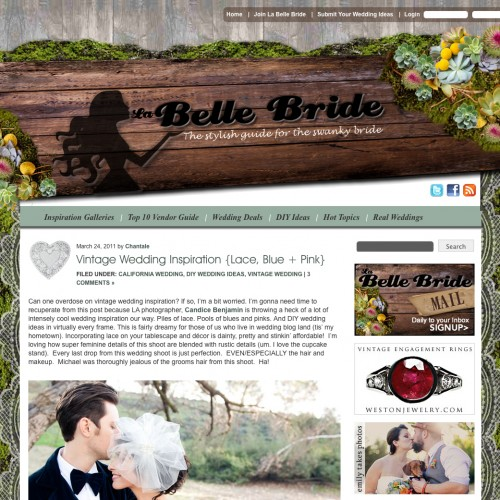 Once Upon a Wedding Shoot in San Dimas { Featured on La Belle Bride}