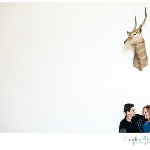 Eilis + Dave { Los Angeles Natural History Museum Engagement Session }