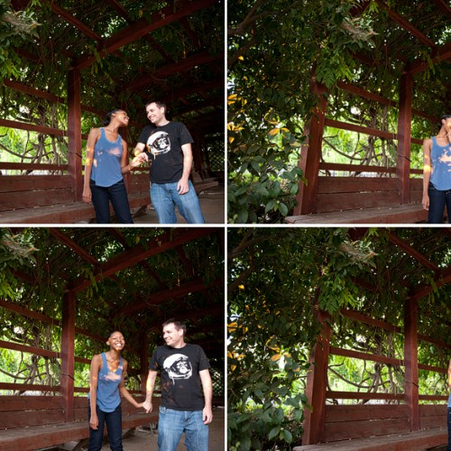 Matt + LaShawna { Fullerton Arboretum Engagement Session }