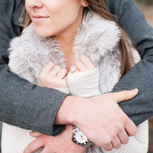 Annika + Ryan { Big Bear Cabin Engagement Session }