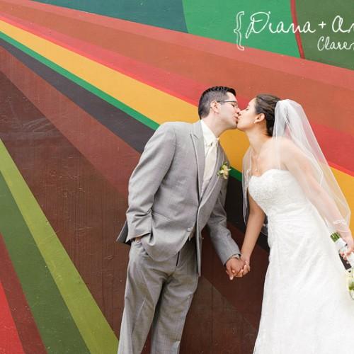 Diana + Andrew { Claremont Holy Name of Mary Catholic Church and DoubleTree Wedding }