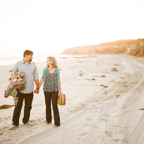 Ashley + Geoff { San Juan Capistrano Mission + Crystal Cove Engagement Session }