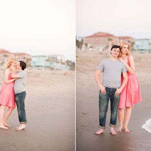 Jillian + Nathan { Santa Monica Pier Engagement Session }