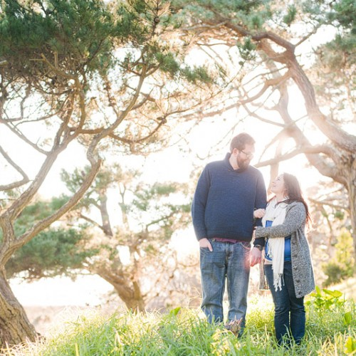 Amanda + James { Muir Beach San Francisco Engagement Session }