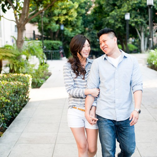 Christina + Kevin { Downtown Los Angeles Engagement Session }