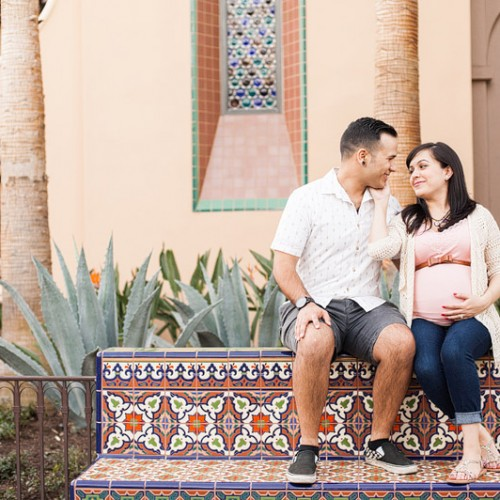 Cecilia + Tony + Baby { Southern California Maternity Session }