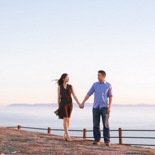 Joyce + Miller { Rancho Palos Verdes South Coast Botanical Garden Engagement Session }