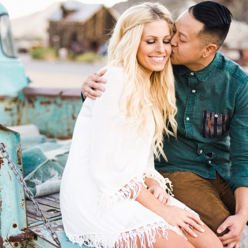 Sarah + Daniel { Nelson, Nevada Ghost Town Engagement Session }