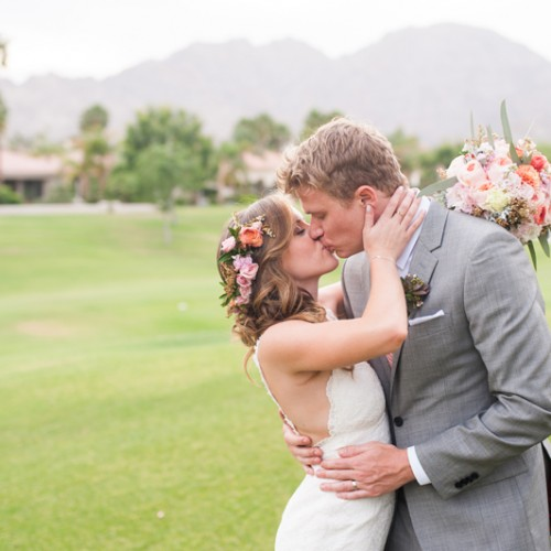 Elie + Jeff { La Quinta, California Backyard Destination Wedding }