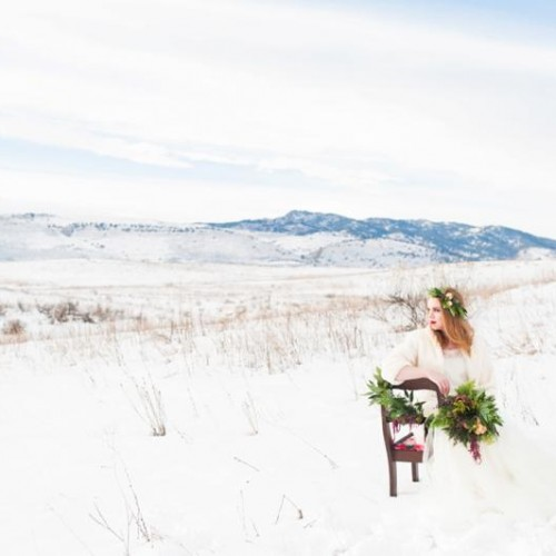 Colorado Winter Inspirational Bridal Session - Northern Colorado Wedding Photographer
