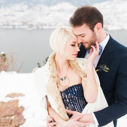 Ashley + Kevin - Snowy Stardust Inspirational Wedding Shoot - Fort Collins, Colorado