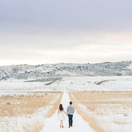 Fort Collins Winter Couple Session - Dylan + Marc